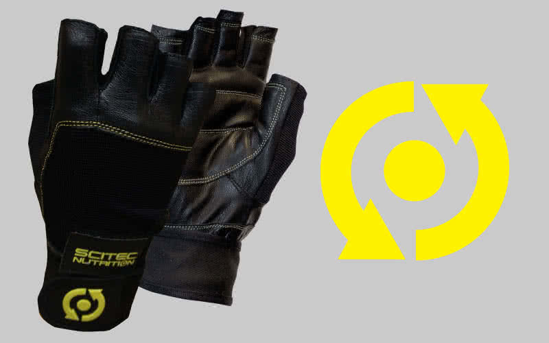 Scitec Nutrition Handschuhe Yellow Style Leather paar
