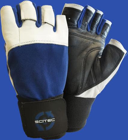 Scitec Nutrition Power Blue gloves paar
